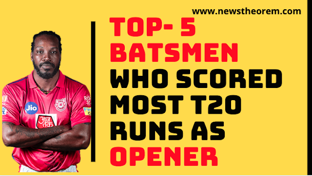 Most T20 runs as Opener