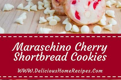 Maraschino Cherry Shortbread Cookies #christmas #cookies