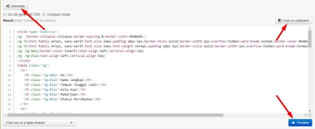 Cara Membuat Tabel Di HTML Blog