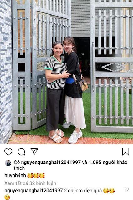 Huỳnh Anh về ra mắt nhà Quang Hải, ôm 'mẹ chồng' đầy thân thiết