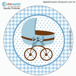 Bello Osito Bebé: Wrappers y Toppers para Cupcakes para Imprimir Gratis.