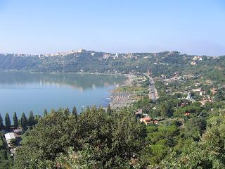 The Villa of Domitian enjoyed commanding  views over beautiful Lago Albano outside Rome