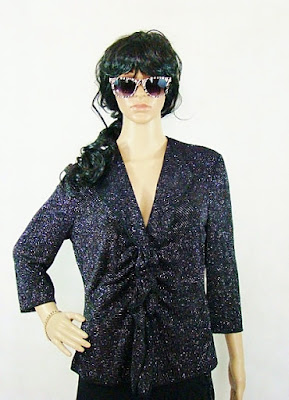 Armani Colezzioni night vintage blouse polish fashion blog netstylistka