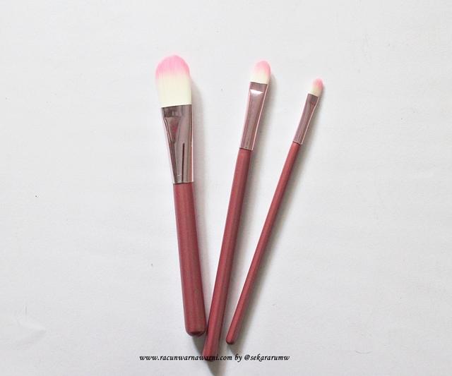 Foundation Brush Pink Set