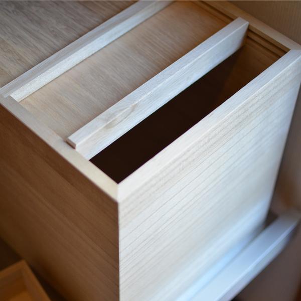 東屋 あづまや 米櫃 5kg 一合升付き 米びつ 桐