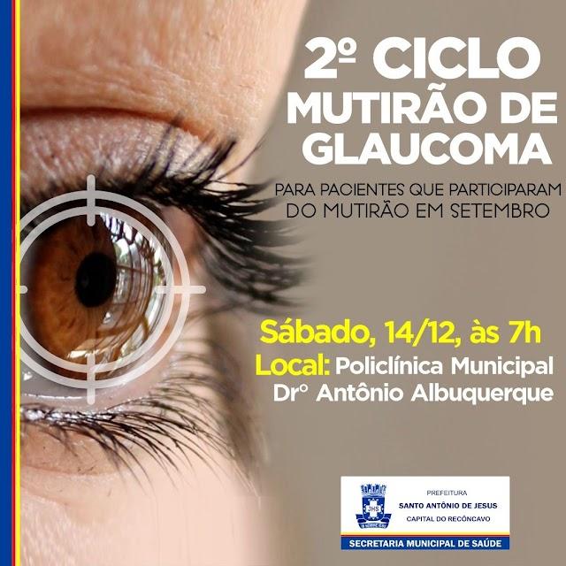 Prefeitura promove 2º Ciclo do Mutirão de Glaucoma e revisão de cirurgias de catarata neste sábado (14)