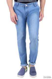 Papazon Denim Lycra Solid Slim Fit Jeans