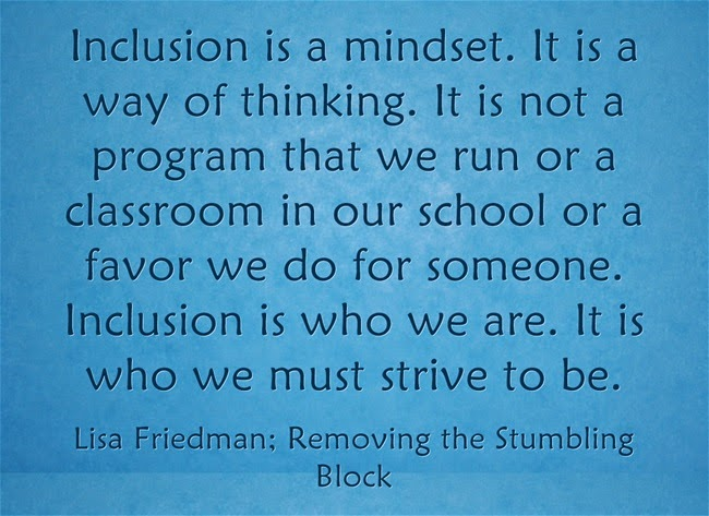 Inclusion is a mindset; Removing the Stumbling Block