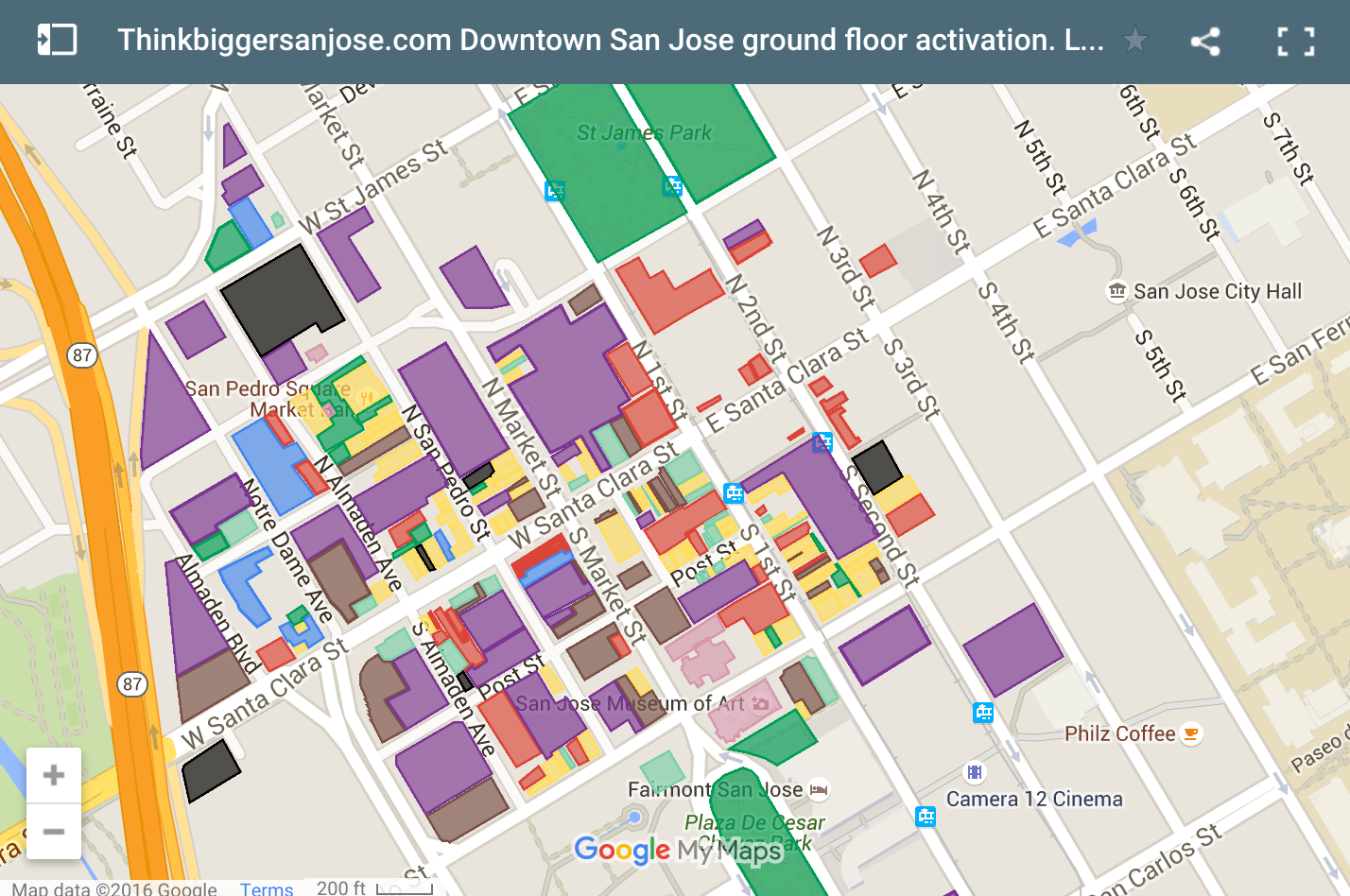 San Jose Crime Map 2014