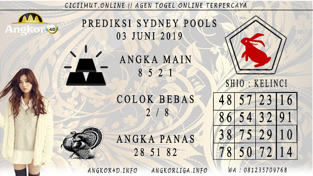 PREDIKSI SYDNEY POOLS 03 JUNI 2019