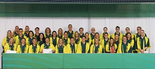 Equipe australiana de natação nos Jogos Olímpicos Tóquio 2020