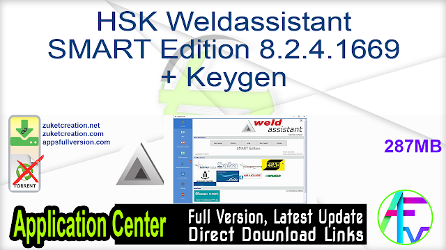 HSK Weldassistant SMART Edition 8.2.4.1669 + Keygen