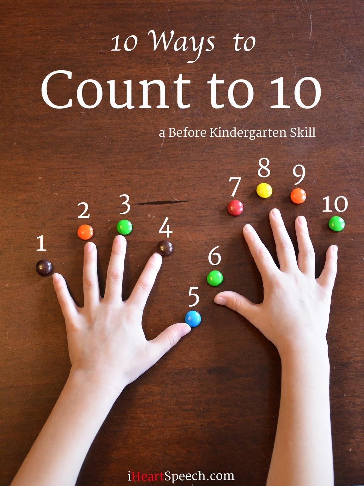 IHeartSpeech.com: 10 Ways To Count To 10