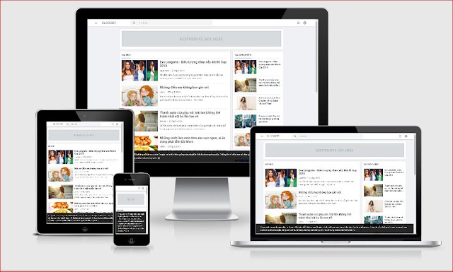 Tặng theme blogspot cá nhân 2 cột Reponsive nhẹ mượt