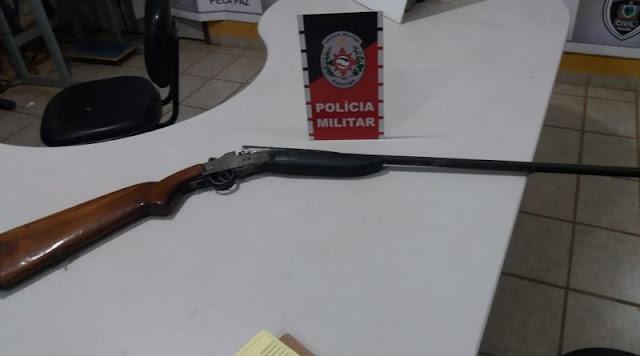 PM apreende arma de fogo nesta segunda-feira próximo a Catolé do Rocha