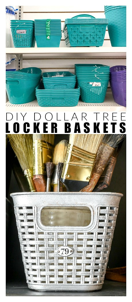 DIY Dollar Tree locker baskets