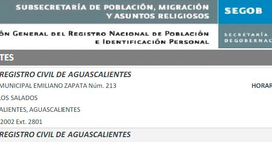 Clave única De Registro De Población Y La Arreglo De Errores