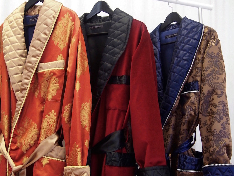 Mens Quilted Silk Dressing Gowns And Cotton Velvet Robes Collection