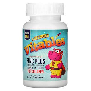 Vitables, زنك إضافي للأطفال، بنكهة اليوسفي، 90 قرص استحلاب