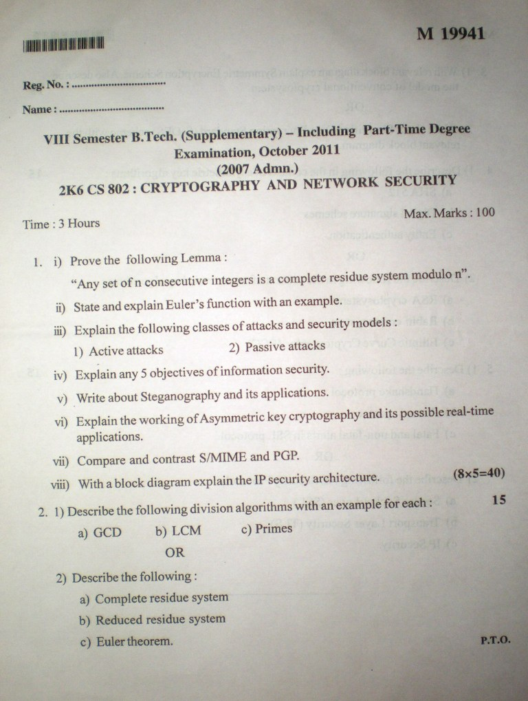 Research papers on cryptography and network security news