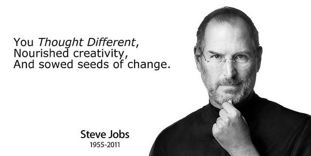 penso diferente sembro creatividad - Steve Jobs - 1955-2011