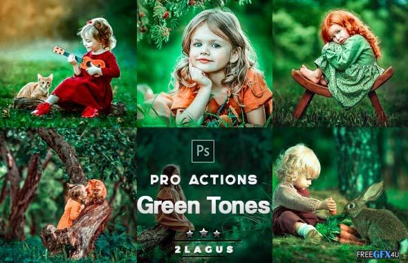 Green Tones Photoshop Actions