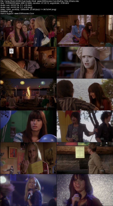Camp Rock (2008) Dual Audio Hindi 480p BluRay x264 300MB ESubs Full Movie Download