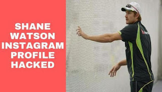 Former Australian cricketer Shane Watson got his another social media account hacked after Twitter as his Instagram profile was invaded by hackers this Tuesday.