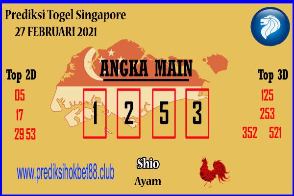 Bocoran Jitu SGP 27 Februari 2021