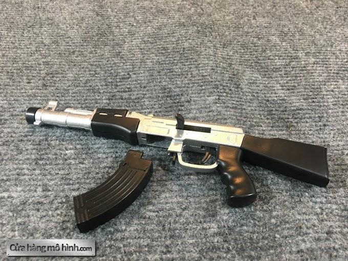 3 Khẩu súng mô hình mini bắn đạn bi AK47, M16, M4A1