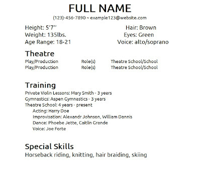 Example Of Special Skills In Resume - Examples of Resumes - special skills on resume