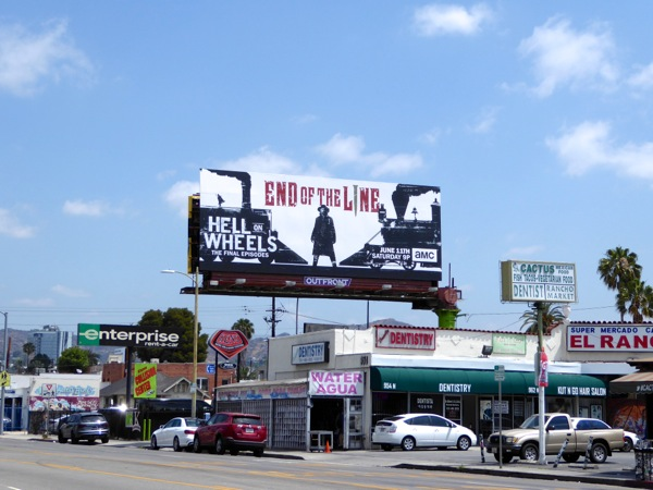 Hell on Wheels final episodes billboard