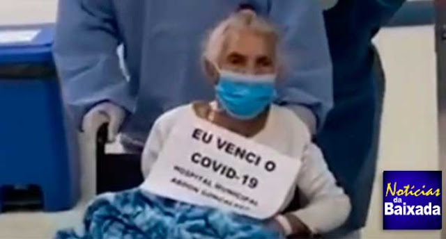 Idosa da Baixada Fluminense se recuperar do Covid-19