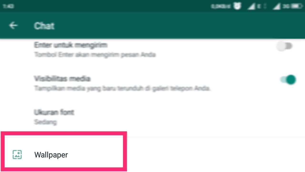 cara mengganti home screen whatsapp