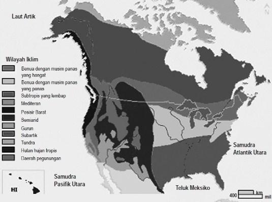 Ciri-ciri Iklim Wilayah Amerika Serikat dan Kanada