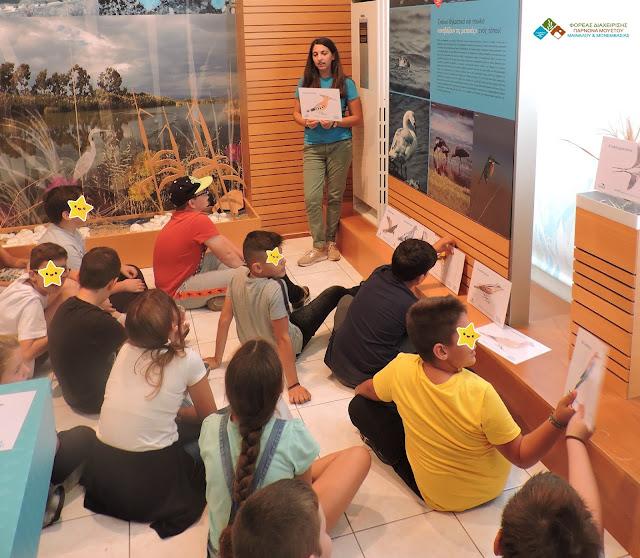 Το Δημοτικό Σχολείο Ανυφίου Αργολίδας στη λιμνοθάλασσα του Μουστού