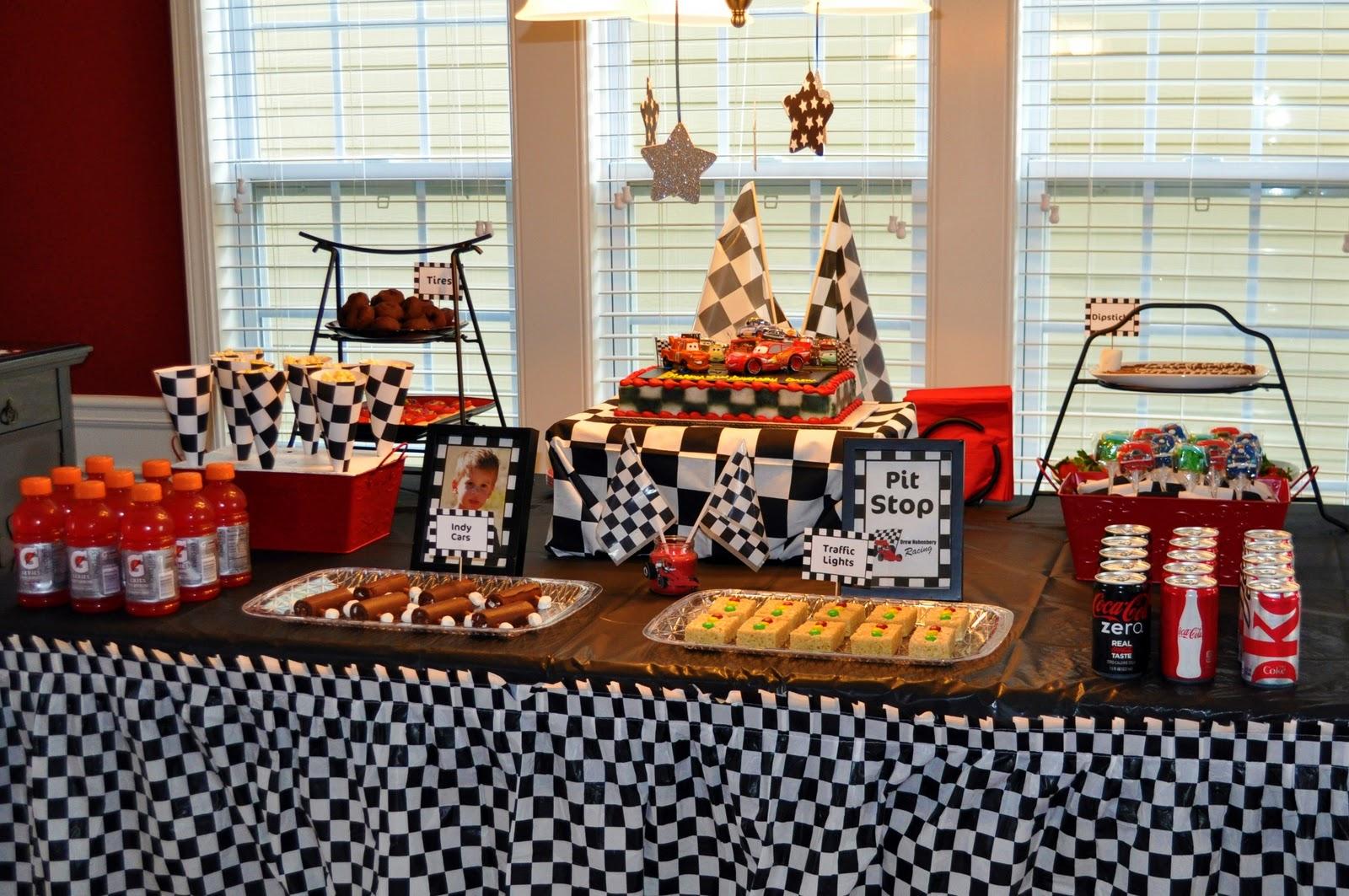 Werdyab Blog Race Car Birthday Party