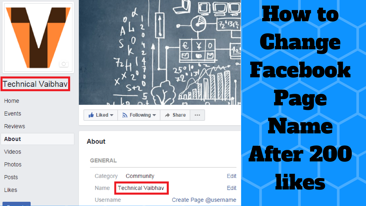 How to Change Facebook Page Name After 200 likes -100% Working