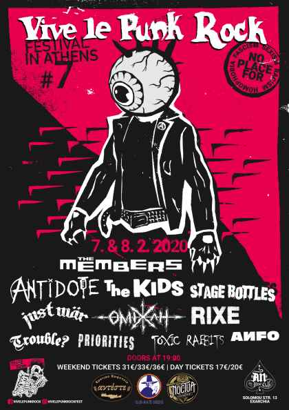 Vive Le Punk Rock - Festival In Athens: 7 και 8 Φεβρουαρίου @ An Club