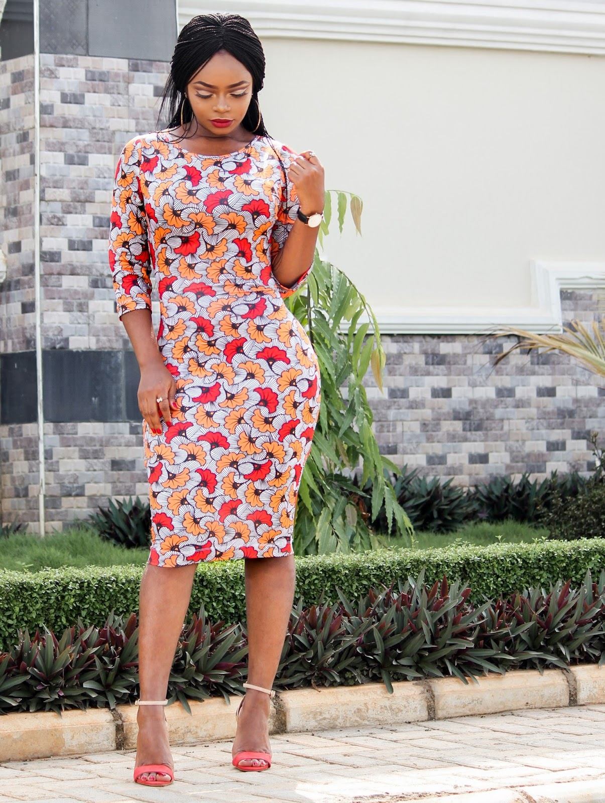 AFRICAN PRINT WITH A TWIST - Kpotuba Print Bodycon Dress by Zakaara