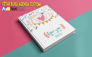 jasa cetak buku agenda daily planner murah di Cipayung, Jakarta Timur