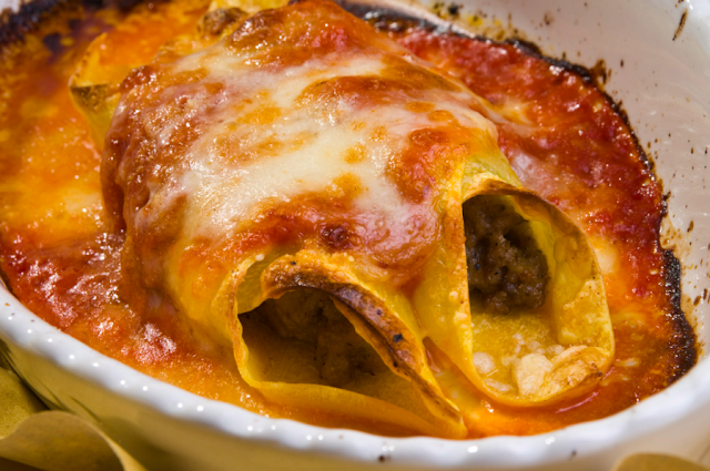 The cannelloni at Sora Maria e Arcangelo in Olevano Romano