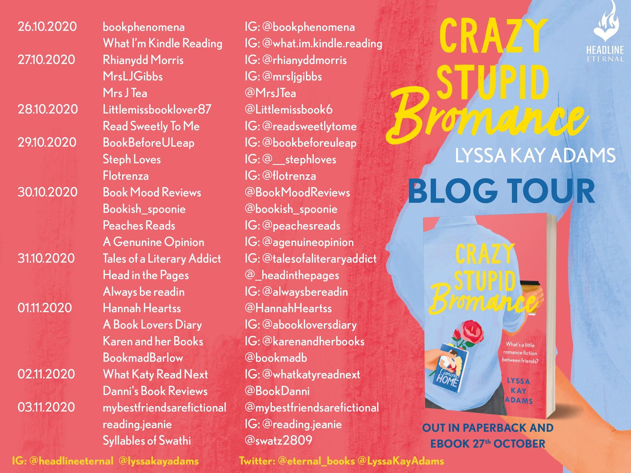 Crazy Stupid Bromance - Lyssa Kay Adams Book Extract | Blog Tour