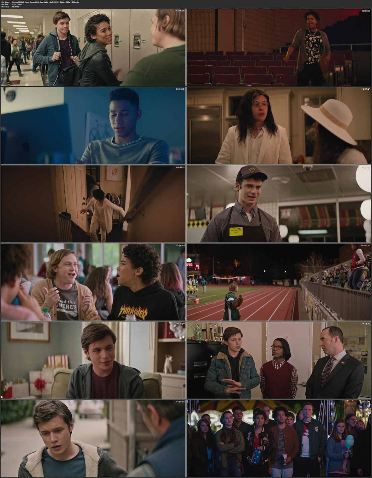Love, Simon 2018 Dual Audio Hindi ENG 5.1 BluRay 720p 1.3GB