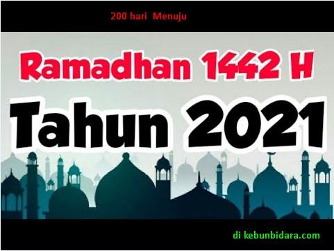 200 Hari Menuju Ramadhan 1442 H