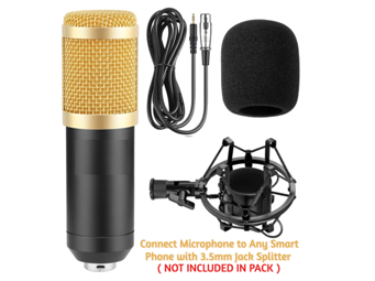 Bulfyss BM-800 Professional Condenser Microphone Mic Sound Studio Recording Dynamic on Amazon