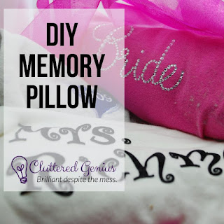 Blog With Friends, a multi-blogger project based post incorporating a theme, Snuggly and Warm | DIY Memory Pillow by Lydia of Cluttered Genius | Featured on www.BakingInATornado.com