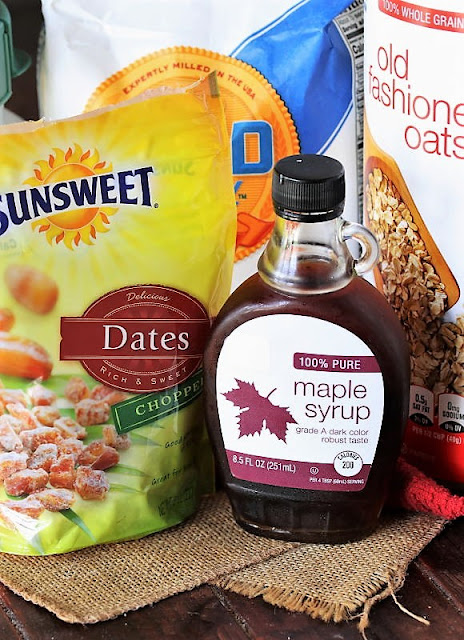 Maple-Date Bars Ingredients Image