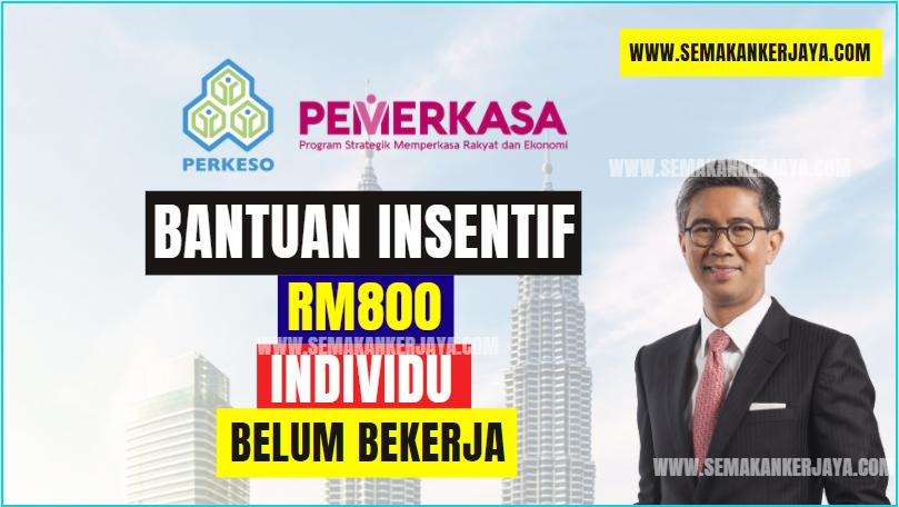 Bantuan RM800 Individu Belum Bekerja