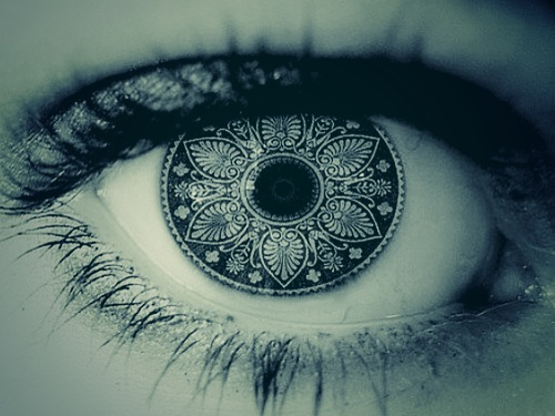 Eyes with mandalas